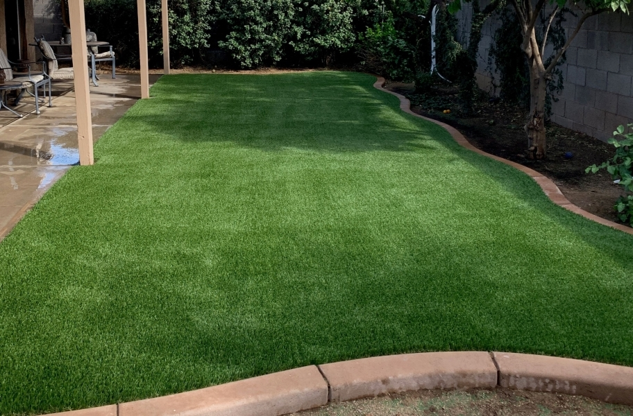 Installing artificial grass over concrete: All Play Pet Turf Rolls