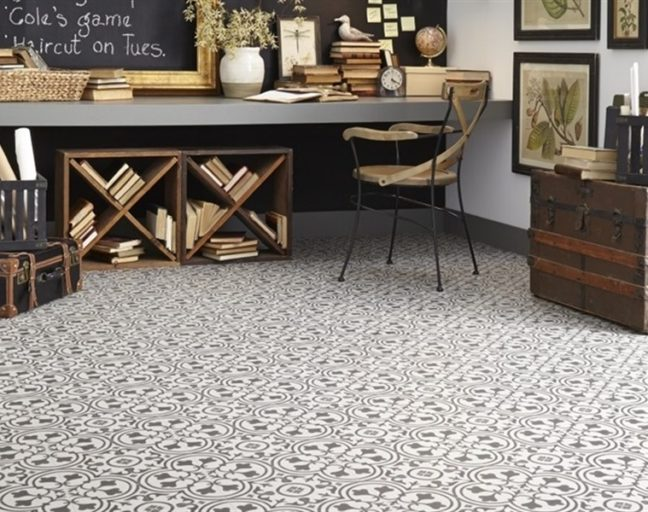 What is a Floating Floor: Mannington Revive 12' Luxury Vinyl Sheet
