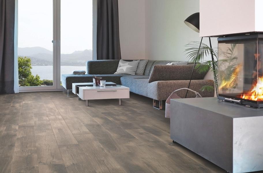 Wide Plank Modern Flooring: 12mm Mohawk Crest Haven Waterproof Laminate