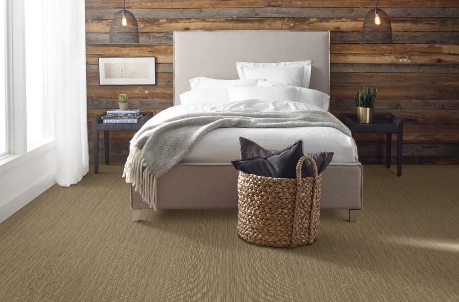How to Choose Bedroom Flooring: Shaw Floorigami Striation Carpet Plank