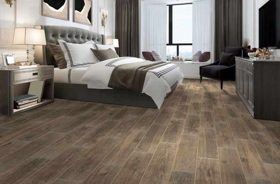 Trending Bedroom Flooring Looks: Daltile RevoTile - Wood Visual