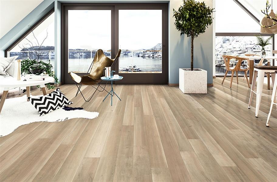Antiqued Light Tone Wood Flooring: Cittadina Engineered Hardwood