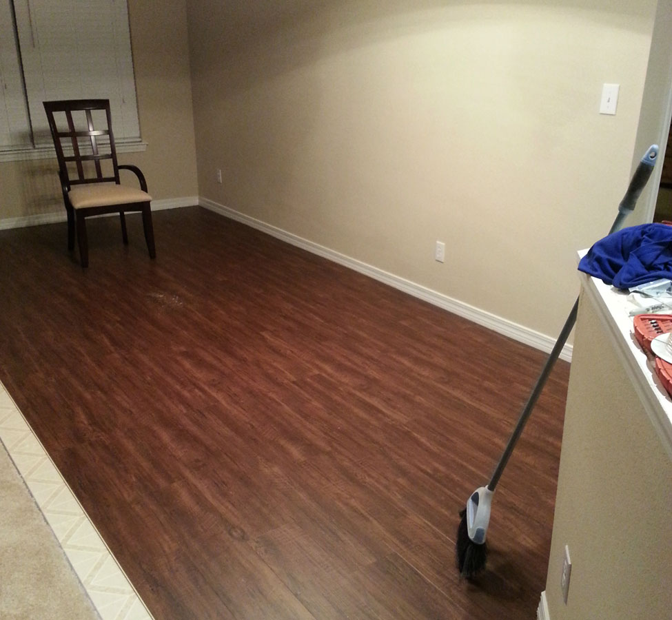 How to install vinyl plank click flooring